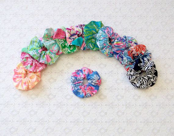 Preppy Colorful Lilly Pulitzer Fabric Scrunchie Scrunchy in 12
