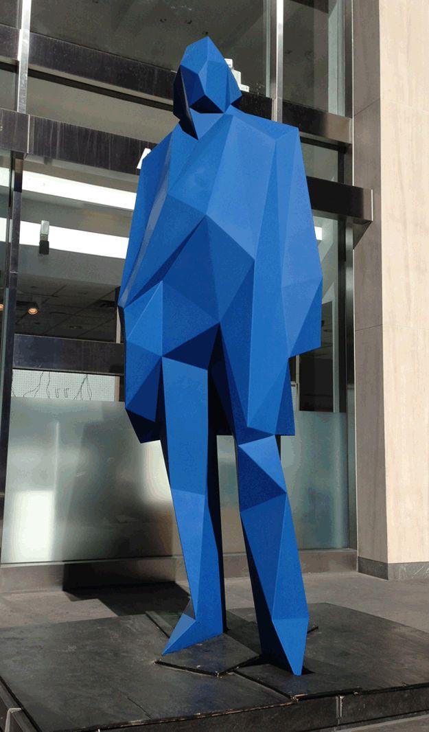 Image result for blue man sculpture