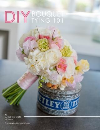 DIY bouque tying instructions in Smitten Magazine #5 March/April '12