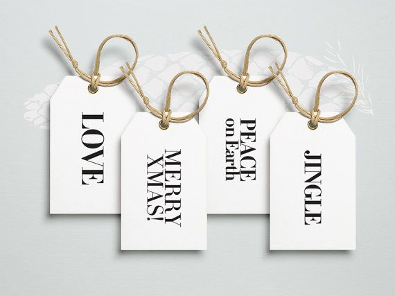 8 Printable Gift Tags. Christmas Tags. by bosquegraphicdesign