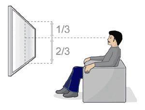 Hoe hoog moet ik mijn TV ophangen?