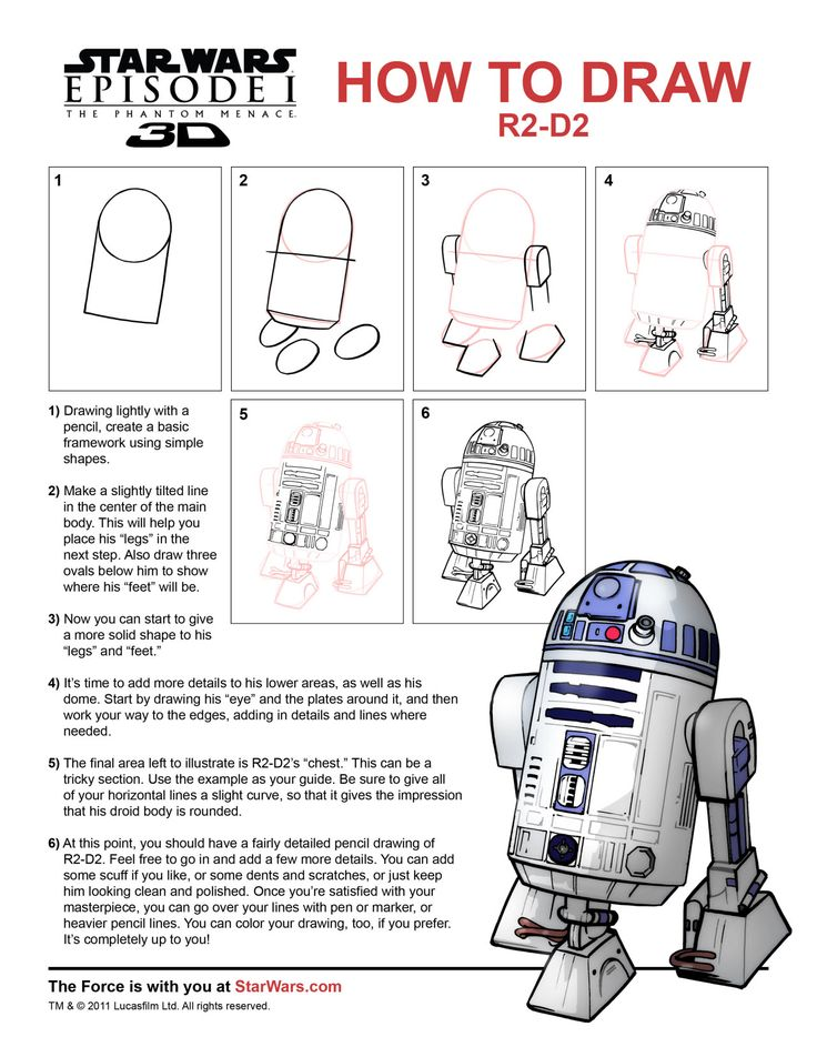 {How to Draw: R2-D2} Hm..must try I will...
