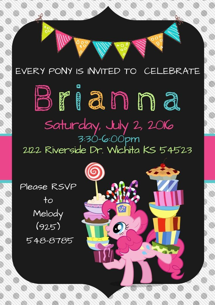Best 25 My little pony invitations ideas – Tattoo Party Invitations