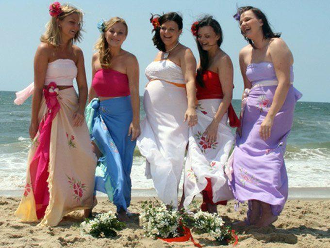 Как завязать юбку саронг – фото и способы