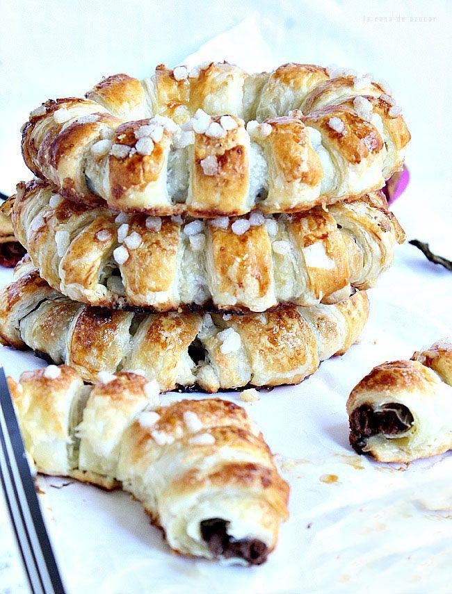La rana de azúcar: Anillos de hojaldre rellenos de nutella (amigas unidas por un click)
