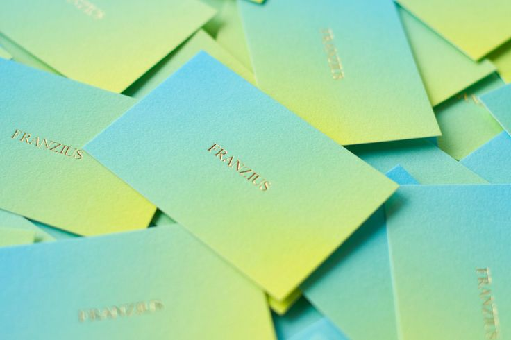 corporate identity and stationary for (the Berlin based fashion label) Franzius / designed by Studio Hausherr
