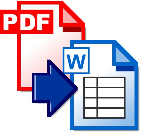 PDF to WORD: Convert PDF documents to fully editable Word documents. You simply go to the site, upload your pdf, select either .doc or .rtf,