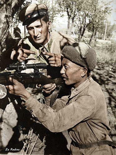 Soviet sniper in Stalingrad 1942