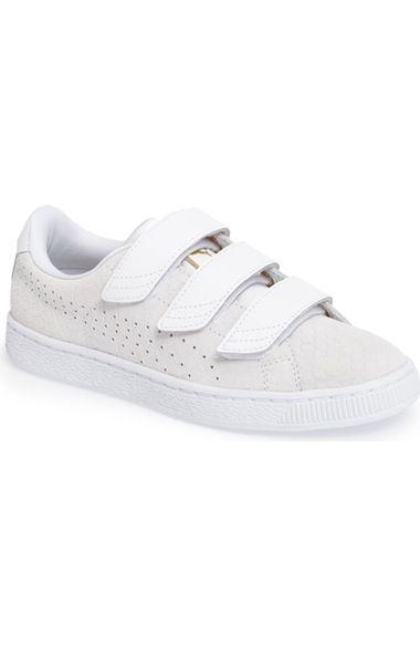 PUMA Basket Strap Exoticskin Sneaker (Women). #puma #shoes #