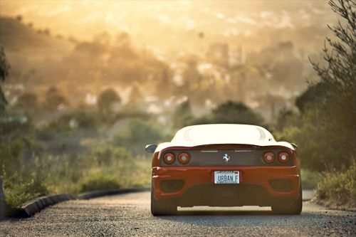 #car #red #street