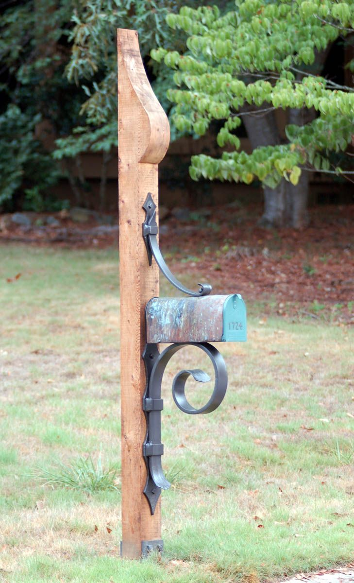 Kingwood Mailbox Phillips Metal Works Metal Mailbox Rustic Mailboxes Mailbox Makeover