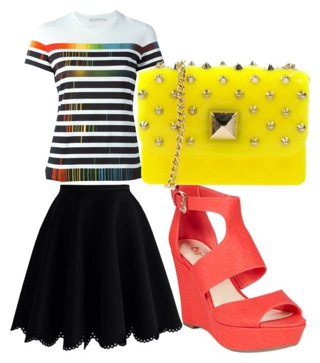 """GIRLY GRUNGE SUMMER LOOK"" by vickybartlett on Polyvore featuring Mary Katrantzou, Chicwish, Bar III, Hervê Guyel, women's clothing, women, female, woman, misses and juniors"