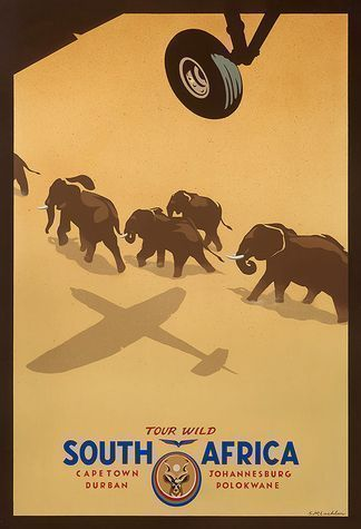 THERE WAS A TIME...Vintage Travel Posters  -- Tour Wild, South Africa #Travel #Poster #Vintage #vintagetravel #africatravel #vintageposters  South Africa  Information on our Site  http://storelatina.com/southafrica/travelling