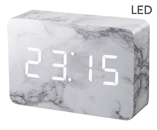Réveil GREY, gris et blanc - L15