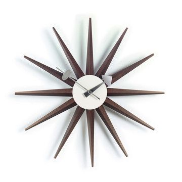 Shop The Authentic George Nelson Sunburst Clock, One Of More Than 150 Clocks  Designed By George Nelson Associates For The Howard Miller Clock Company  From ...