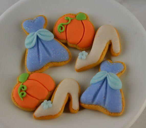 Disney inspired Princess Cinderella Sugar Cookies for American Girl Doll Set of 6
