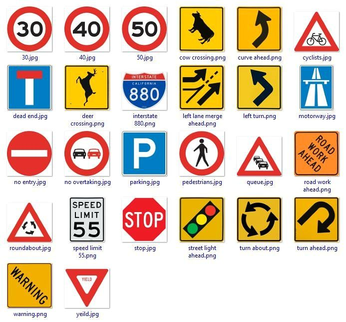 Road Signs With Place Holders Road Signs Road Signage Business Newsletter Templates