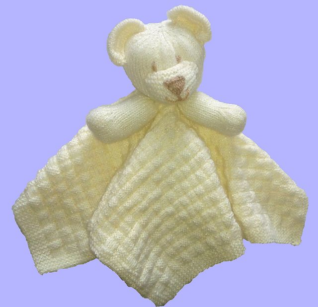 Ravelry: Childs Bear Comfort Blanket pattern by Yorkshire Knitting.