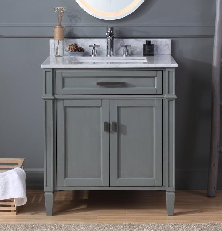 30 Tennant Brand Durand Modern Gray Bathroom Sink Vanity Zk 1808
