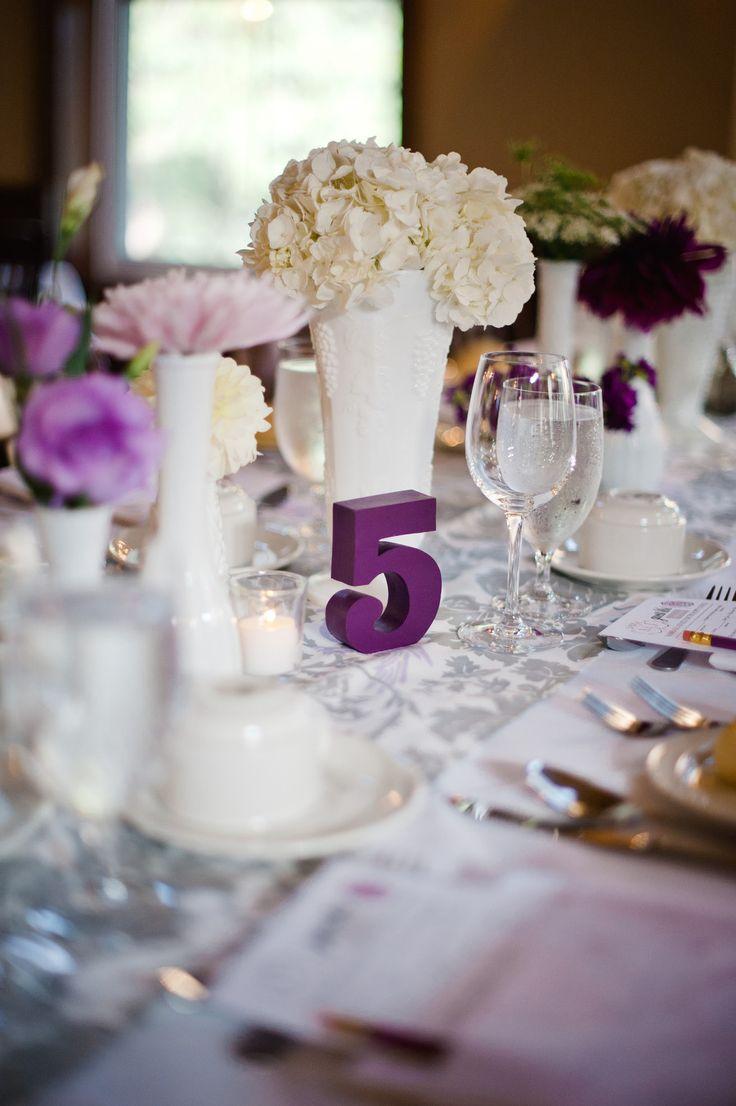 Beautiful Plum Wedding Centerpieces Pattern - The Wedding Ideas ...