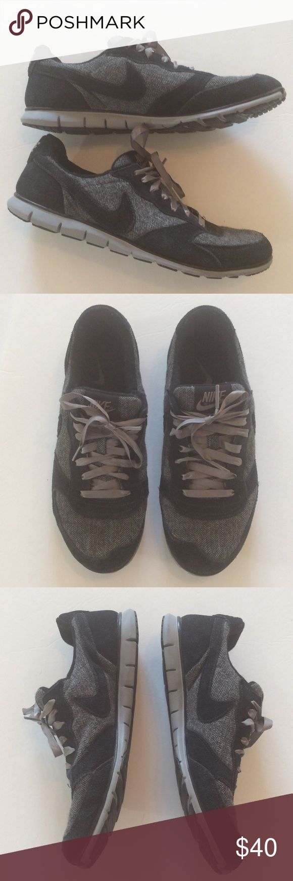 Nike Eclipse   Size 8 Very unique Nike sneakers. Have a tweed appearance. Great score at this price. Nike Shoes Sneakers