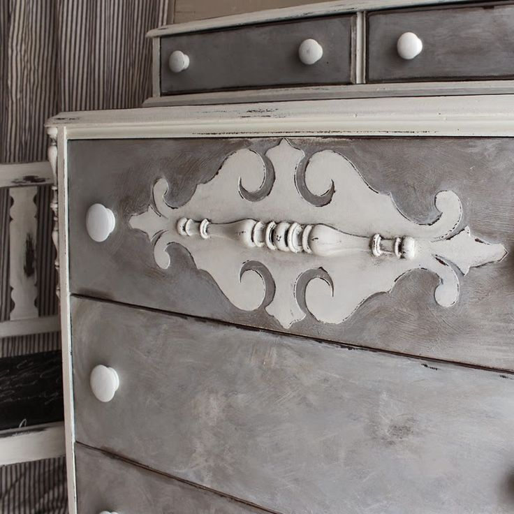 bad rabbit vintage - painted furniture with attitude : The gray dresser part deux
