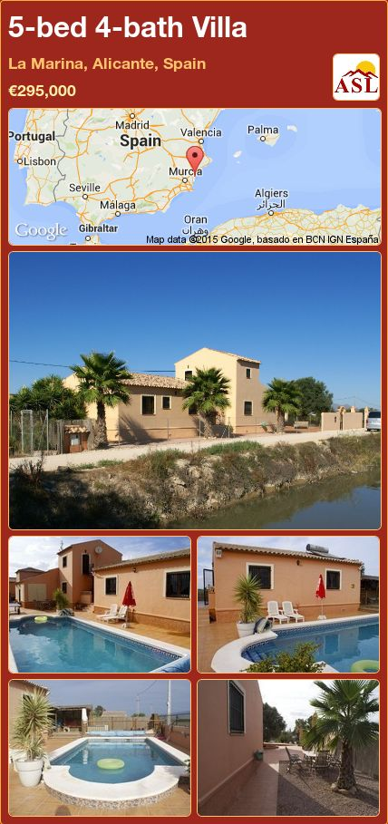 5-bed 4-bath Villa in La Marina, Alicante, Spain ►€295,000 #PropertyForSaleInSpain