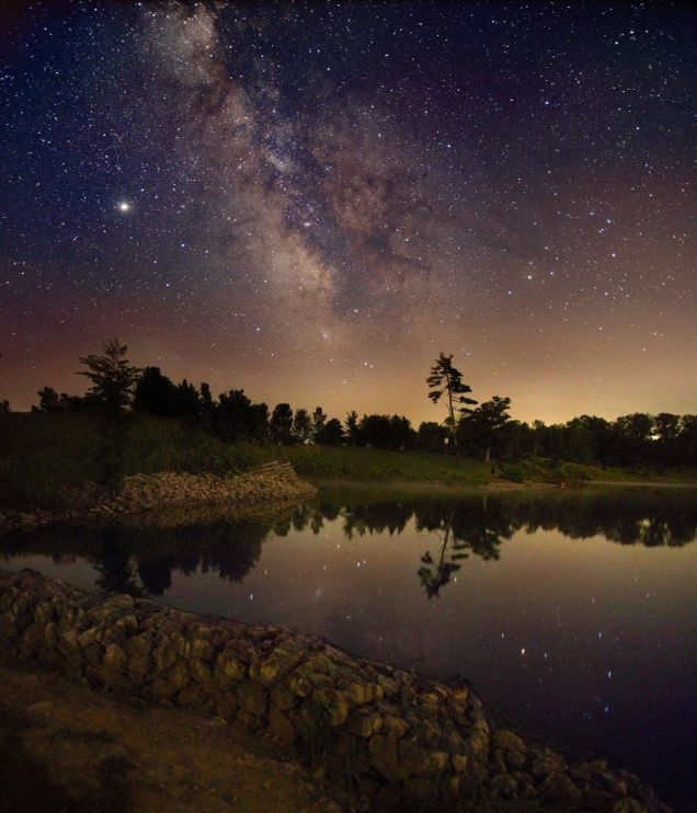 Night-sky composite photograph in Ontario, Canada. Photo credit: Kerry-Ann Lecky Hepburn