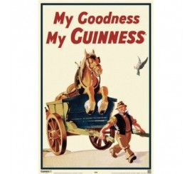 Guinness Horse in Cart  Large  Poster