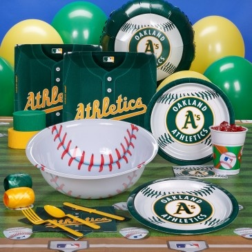 Oakland A's party supplies - if they make it the world series def having a party and going to buy this!