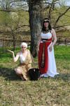 """Cleopatra and slave"" theatre costume, made spring 2011"