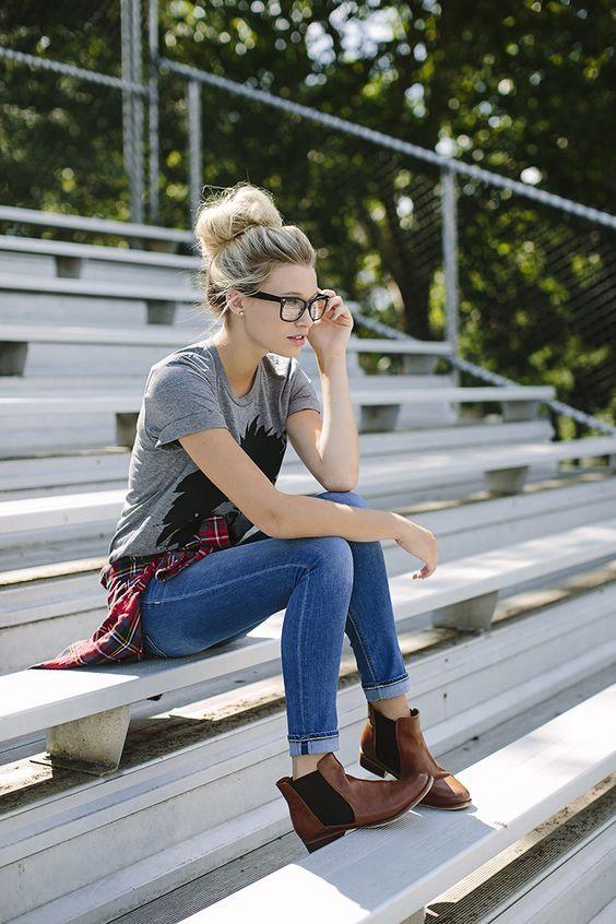 EstiloDF » Para los días nublados, saca tus ankle boots cafés