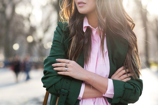 Spring Colors :: Green maxi trench