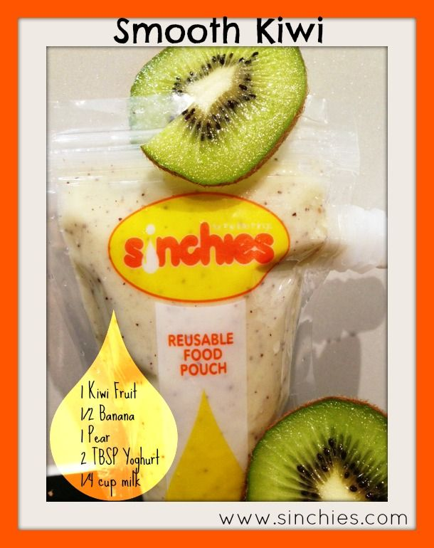 Smooth Kiwi smoothie - kiwi fruit, banana, pear, yoghurt and milk For more inspiration head over to www.sinchies.com