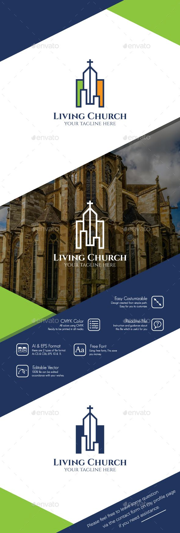 Living Church Logo — Vector EPS #bible #church logo • Download ➝ https://graphicriver.net/item/living-church-logo/19308141?ref=pxcr