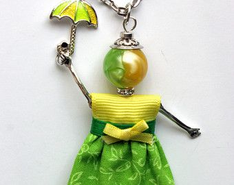 U Go Girl Necklace French Doll Pendant by TheirBeadingHearts