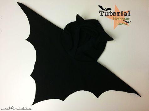 Tutorial   Fledermausponcho – perfekt für Halloween