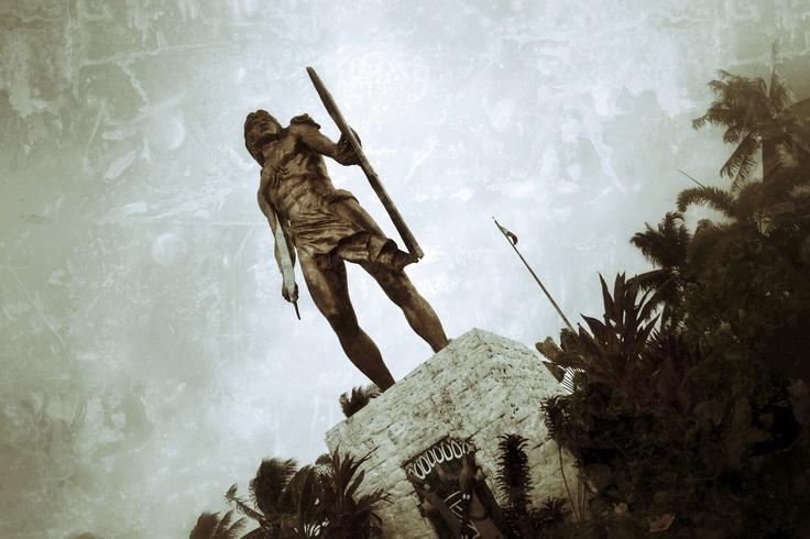 Rajah Lapu-Lapu, the native chieftain of Mactan Island who defeated Ferdinand Magellan during the historic Battle of Mactan in 1521 in the island of Cebu.