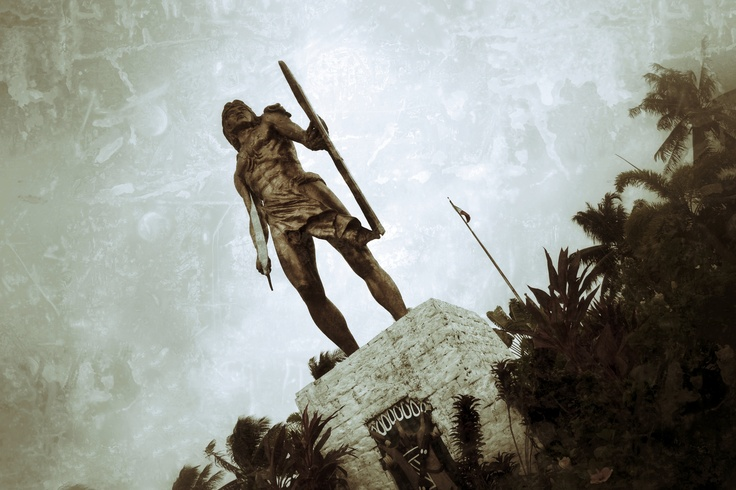 Rajah Lapu-Lapu, the native chieftain of Mactan Island who defeated Ferdinand Magellan during the historic Battle of Mactan in 1521 in the island of Cebu.