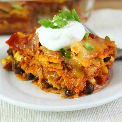 Sweet corn and creamy black beans make this casserole fun and festive.