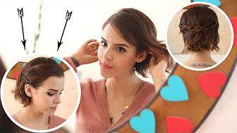 3 Peinados fáciles para cabello corto - YouTube