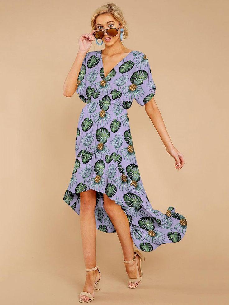 Kurzarm Streifen Sommer Maxi Kleid Hellblau | Kleider ...