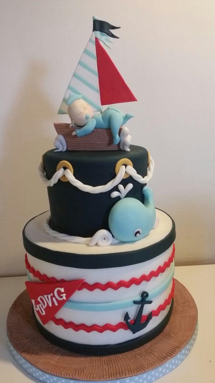 Nautical christening cake by Carmen Sweetness cakes