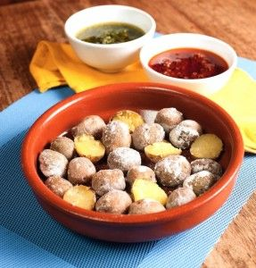 Papas Arrugadas con Mojo Picon - Click for a recipe!