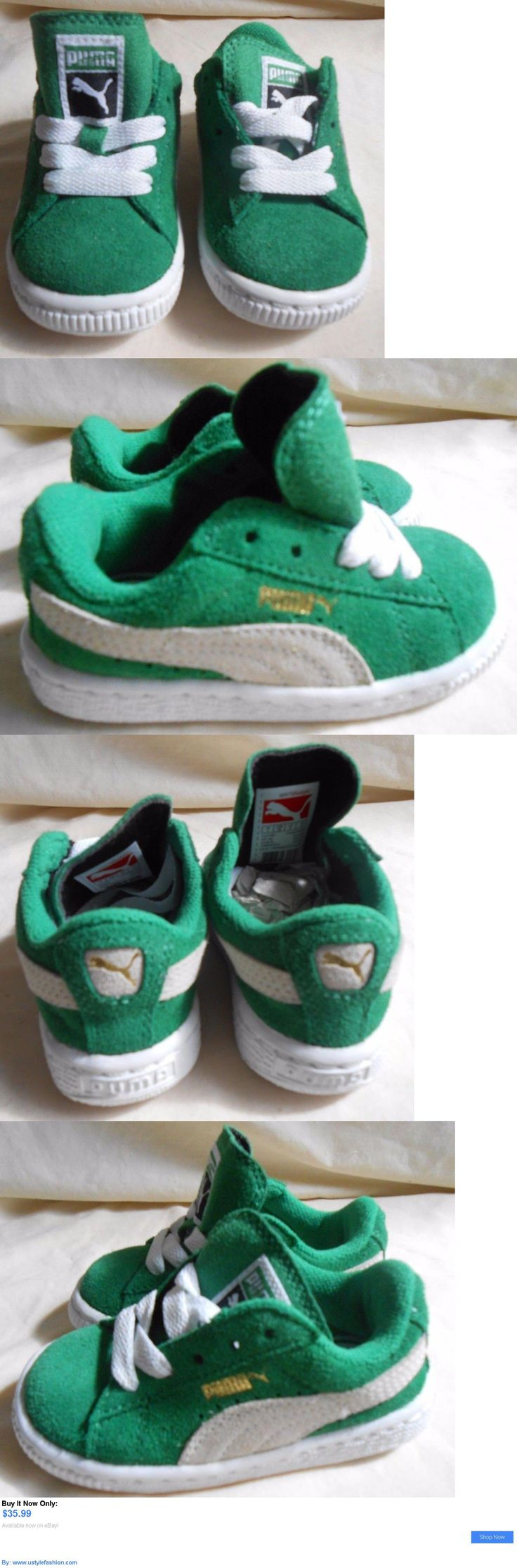 Baby boys clothing shoes and accessories: New Puma Suede Kids Simply Green / White Infant Toddler Sizes Sneakers Shoes BUY IT NOW ONLY: $35.99 #ustylefashionBabyboysclothingshoesandaccessories OR #ustylefashion