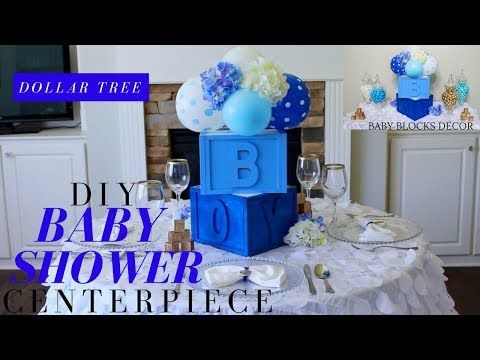 How to make a topiary balloon decoration centerpiece for Baby Shower decoaration ideas - YouTube