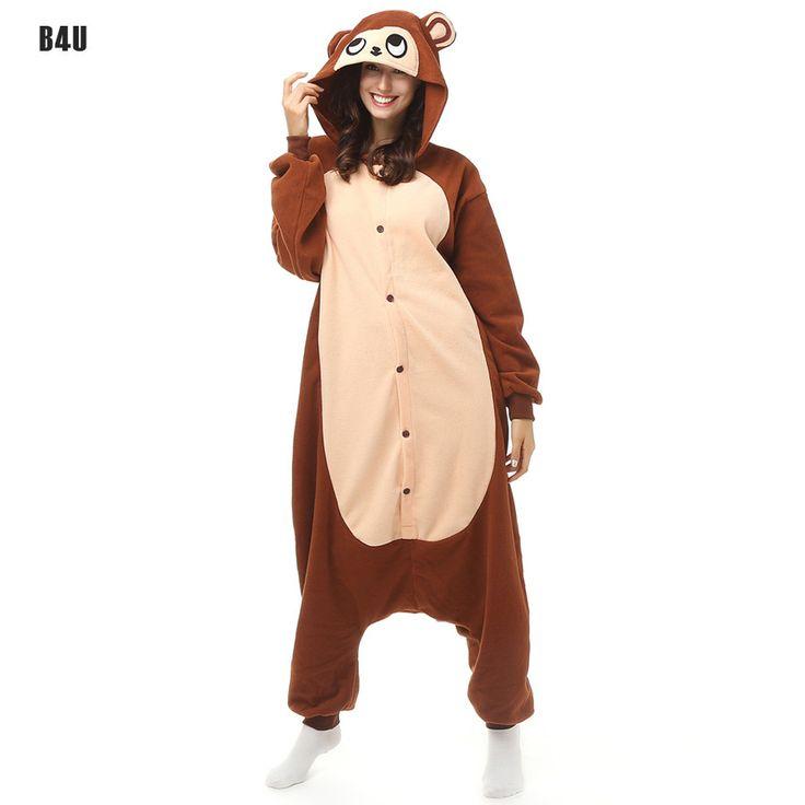 2016 Unisex Pajamas Costume Cosplay Animal Pets Costumes Onesie Sleepwear For Women Men Adults Long-tailed Monkey pijamas mujer