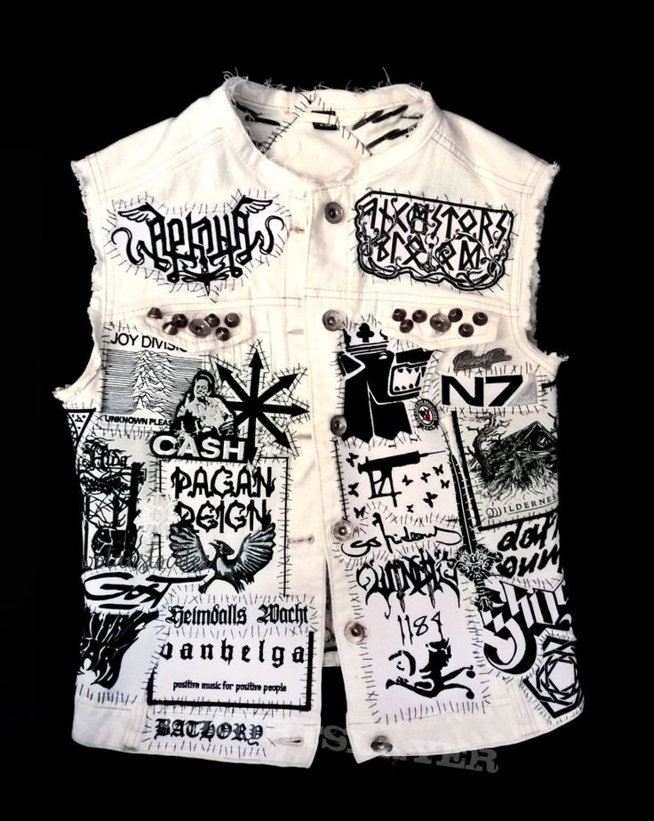 tofu-n-beer's Black is boring. My white metal vest