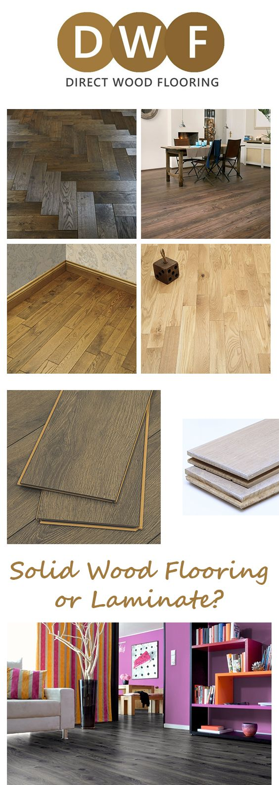 🤔 Solid Wood Flooring or Laminate?     We've weighed up the differences to help you make your decision. Take a read on the Direct Wood Flooring blog 🖱