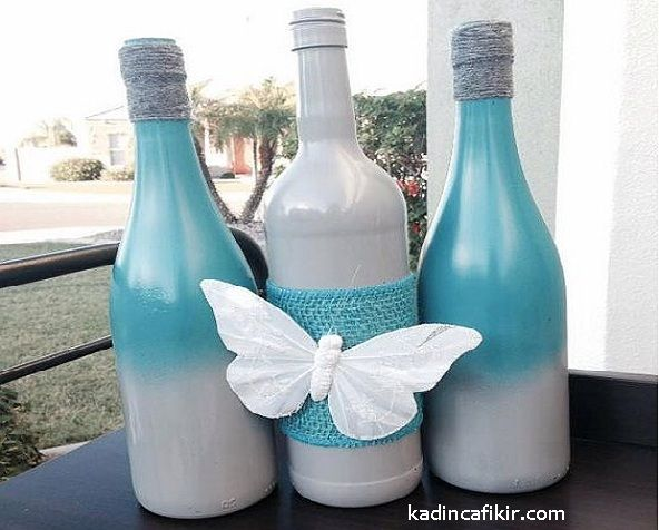 """""""Cam, sağlıktır."""" sözünü mutlaka duymuşsunuzdur. Cam şişelerin, cam kapların kullanılması; özellikle gıda ve yenilebilir, içilebilir ürünler bakımından gerçekten dikkat edilmesi gereken bir konu. Peki kullandığınız cam şişelerin, geri dönüştürülmesi bakımından farklı bir bakış olarak, onların süslenmesi, boyanması, yeniden tasarım ile yepyeni bir süs eşyası ve sanatsal bir dekor ürün haline gelebileceği konusuna nasıl bakarsınız? Cam Şişe Süsleme ile Dekor Süs Eşyası Modelleri ile c..."""